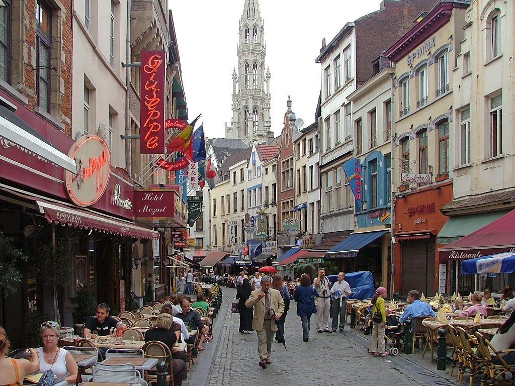 Brussels´Old Town. Photo by Wikipedia Commons