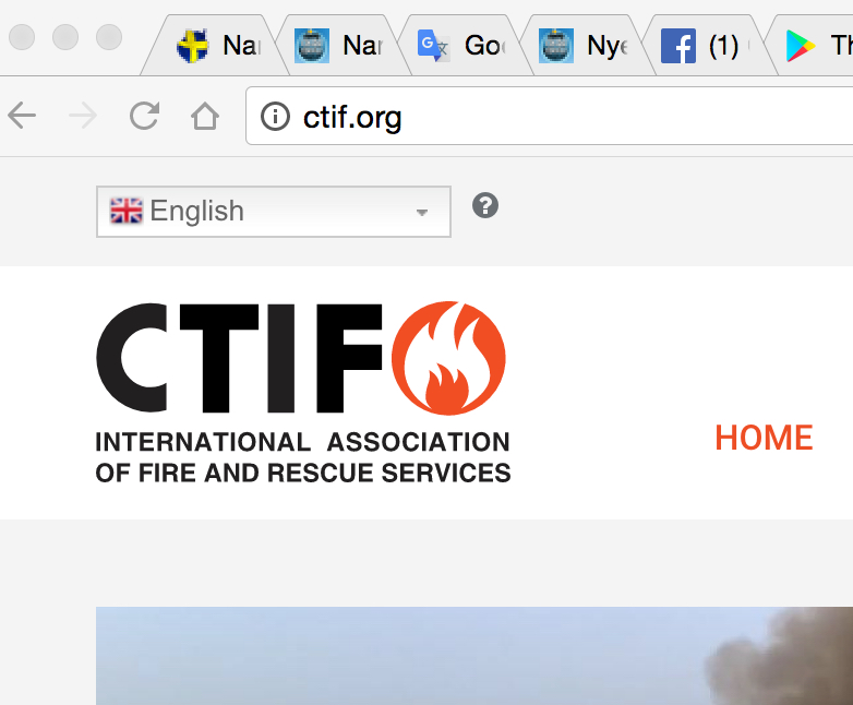 Location of CTIF.org Language choice
