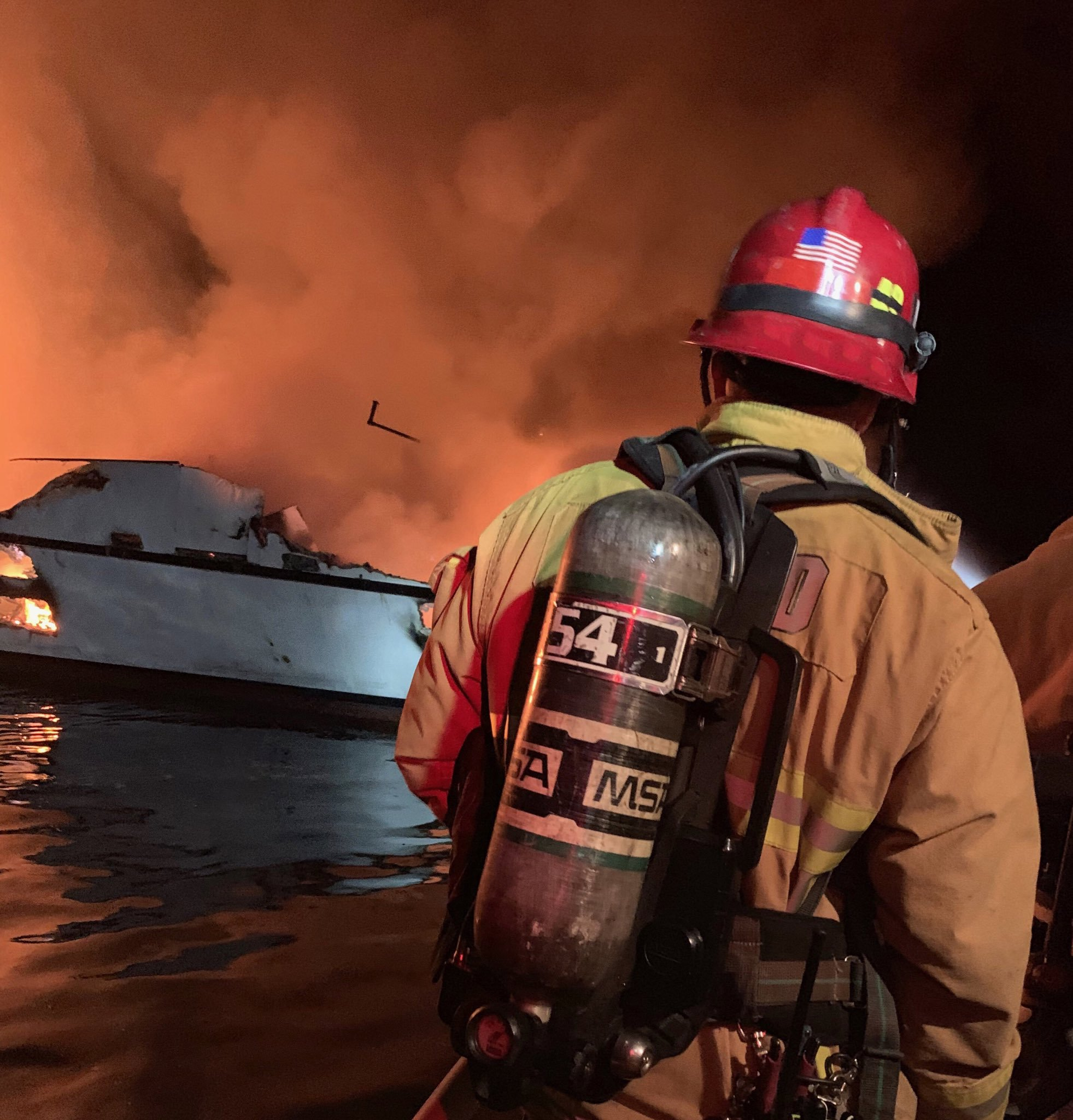 Diving boat fire