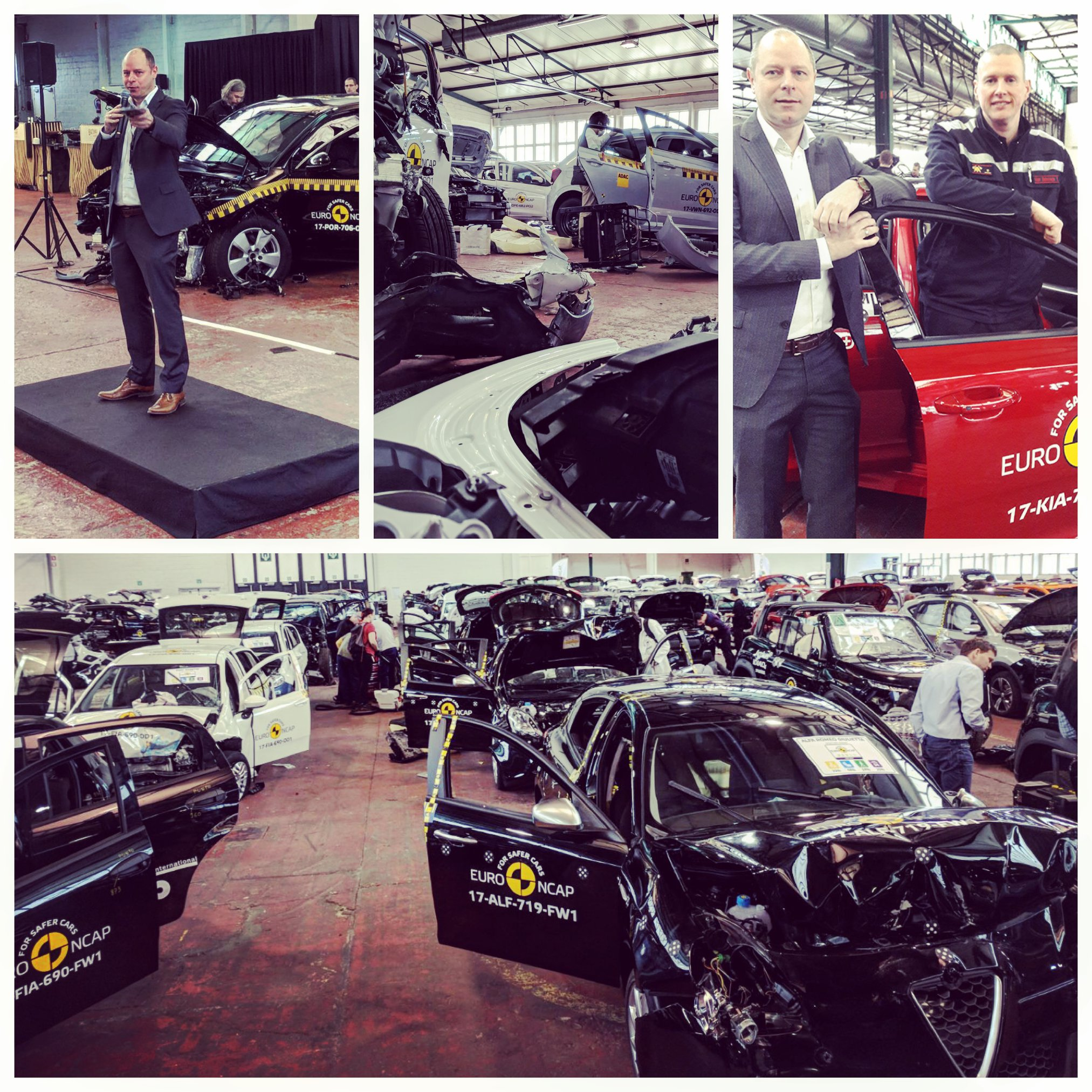 Donated car wrecks from Euro NCAP, The Official Site of The European New Car Assessment Programme