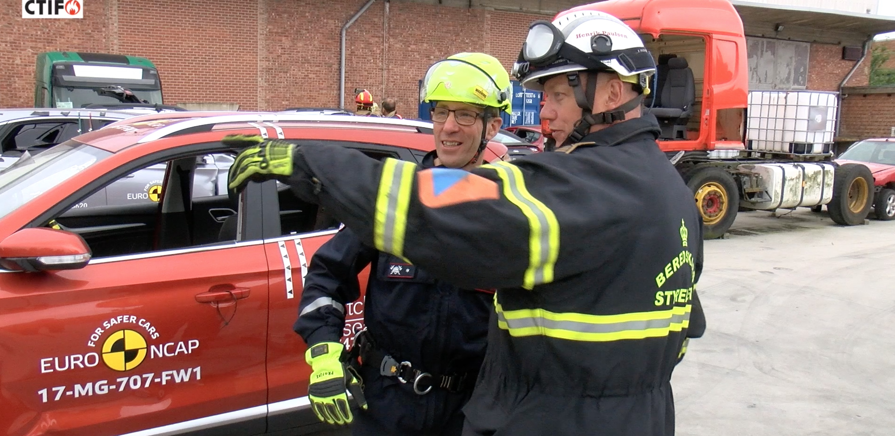Extrication tests in Brussels. Photo: Luc De Meyer