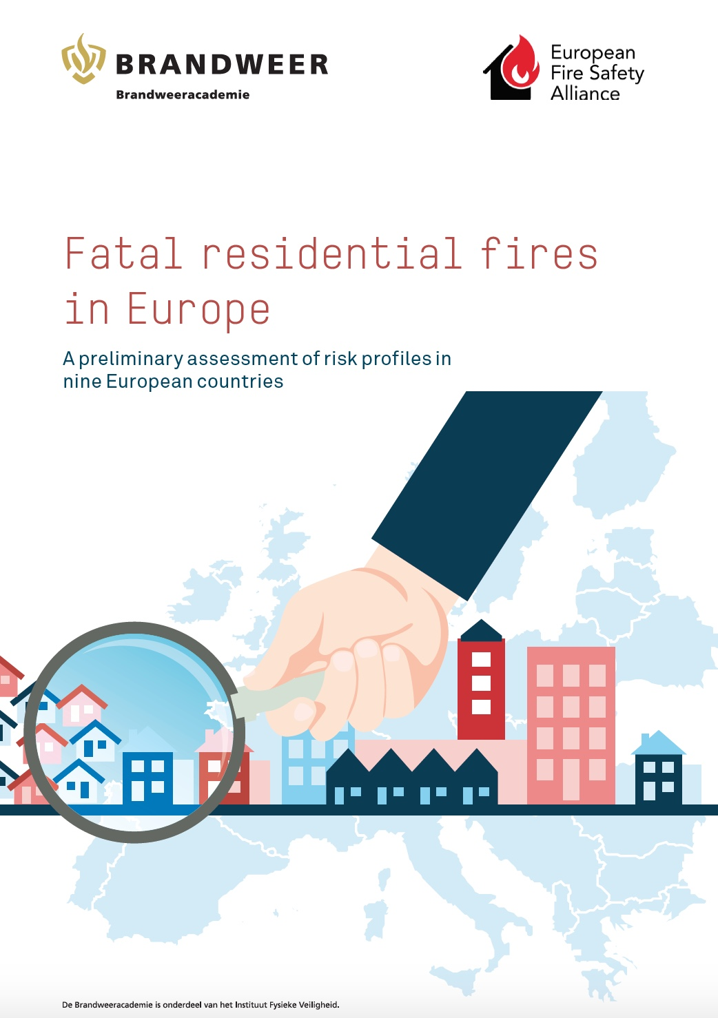 Fatal residential fires in Europe, a screen shot of the report front page