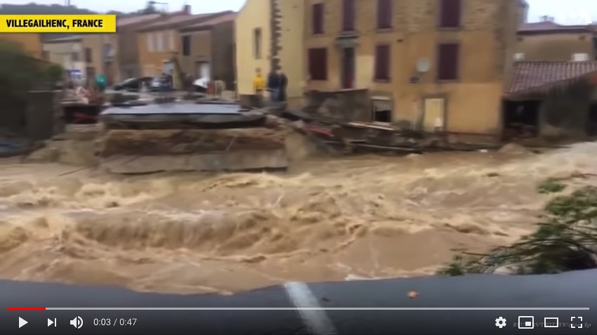Flooding South of France