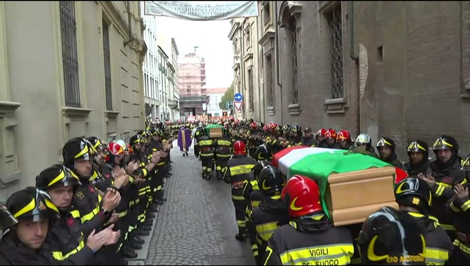 Funeral procession in Milan