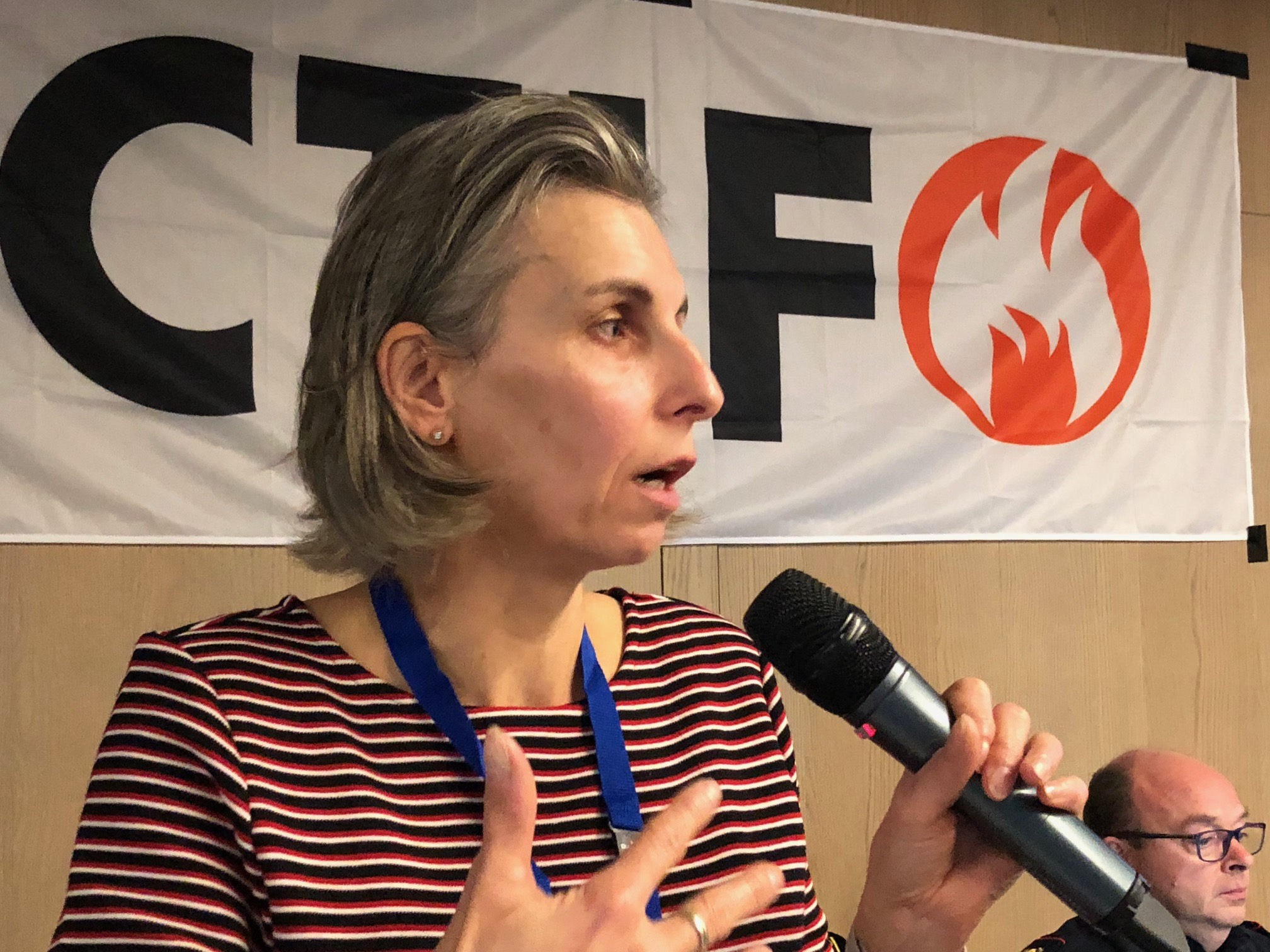 Dr Ivana Kruijff-Korbayová speaking at the November 2018 CTIF Seminar in Brussels.