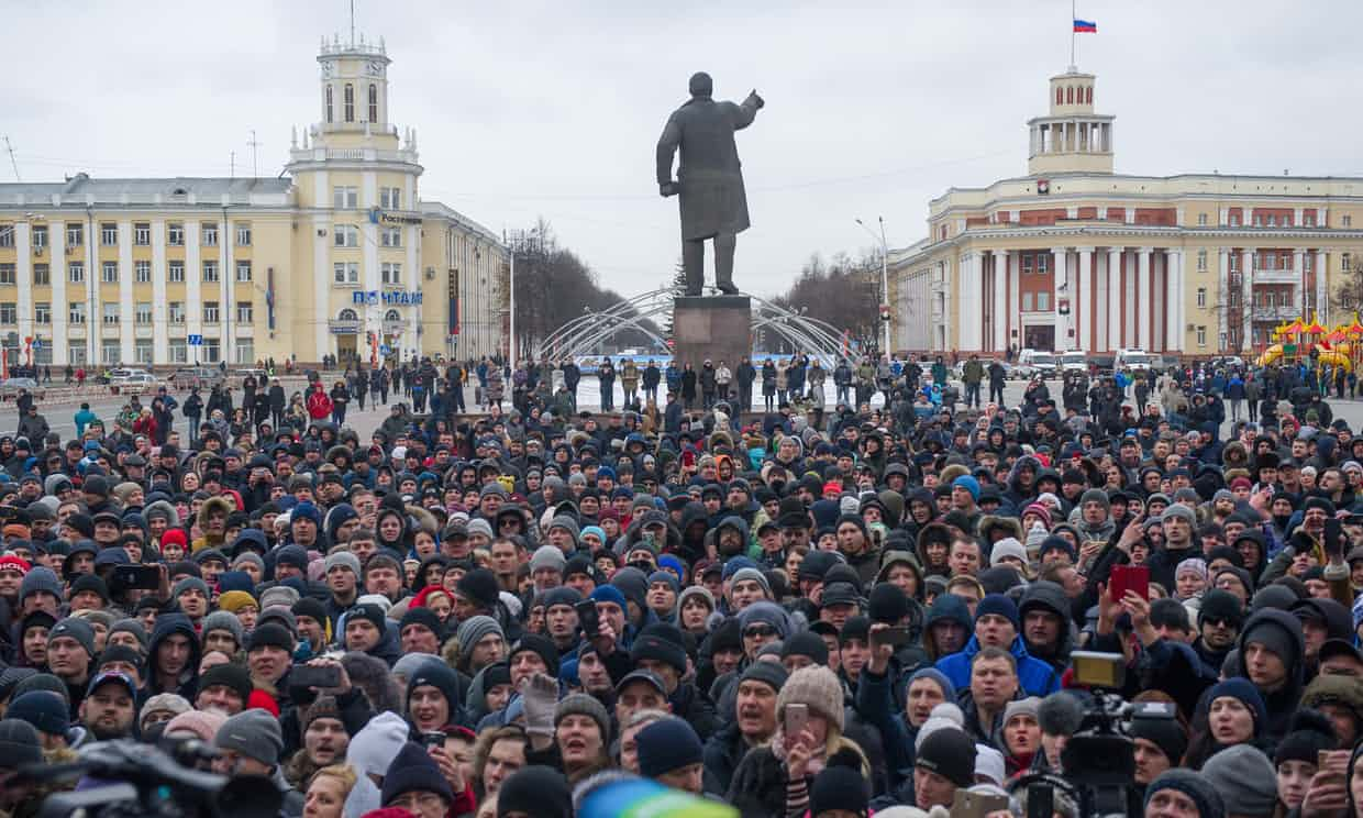 Kemerovo Protest Rally. Photo: TASS - Barcroft