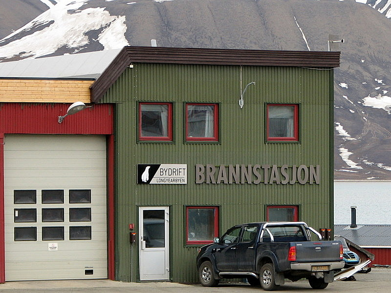 The firedepartment in Longyearbyen, Svalbard, is allegedly the world´s most northern.