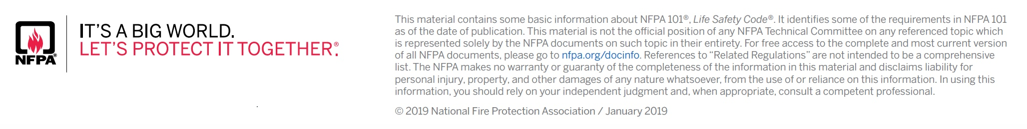 NFPA Logo and text