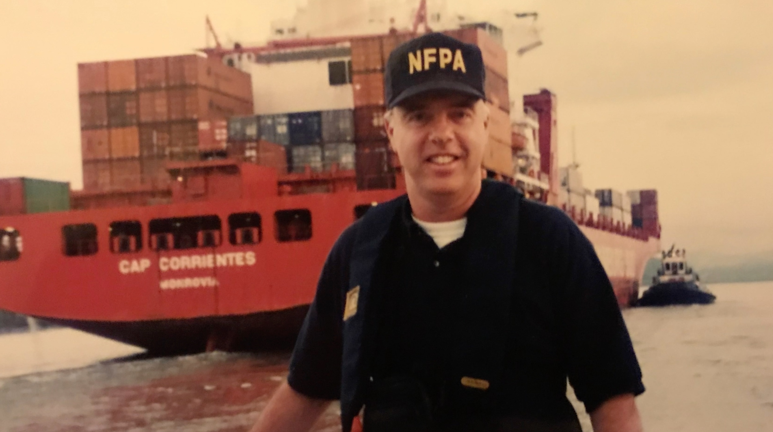 Russ Sanders of the NFPA in younger days.