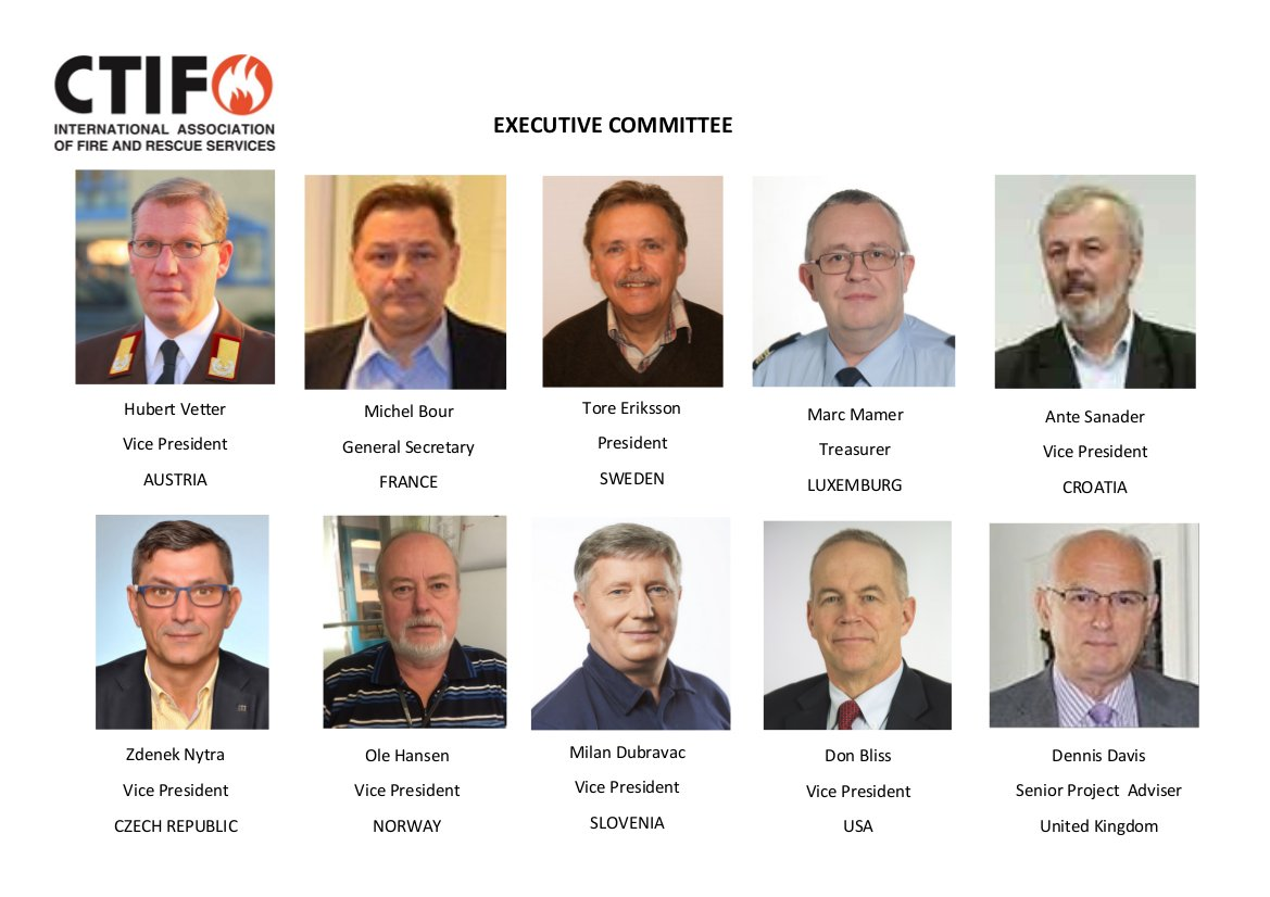 CTIF Executive Committee as of 2016