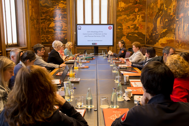 The CTIF Commission for Women in Fire & Rescue meeting in Barcelona November 2019.