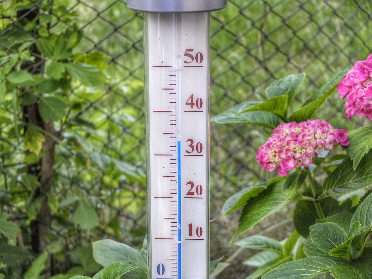 Thermometer showing over 30 decrees C. Photo: Pixabay.