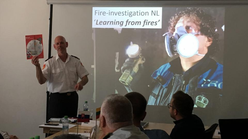 The CTIF fire investigation Working group during a meeting in the Netherlands.