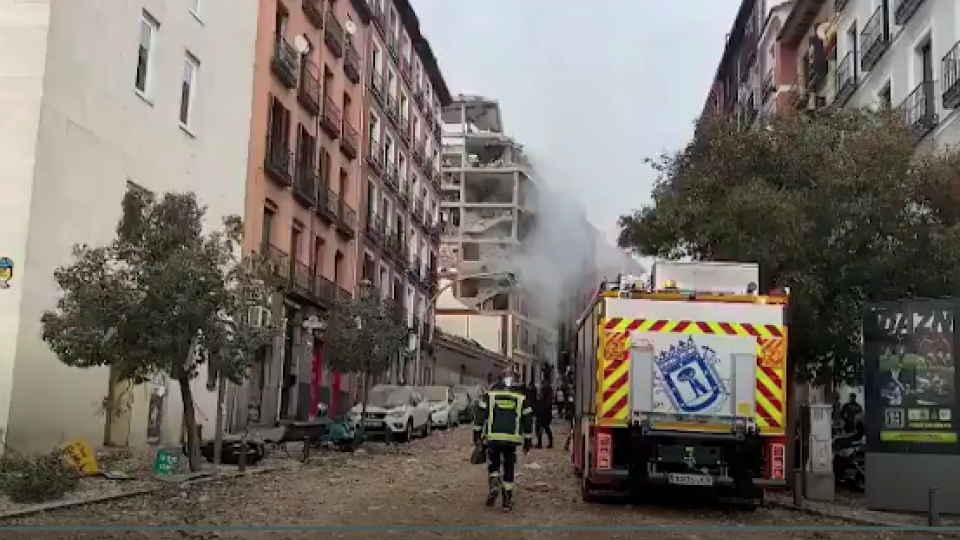 The area in Madrd affected by the Jan 20 explosion. Photo by Emergencias Madrid
