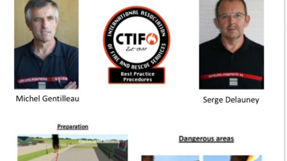 The first CTIF Best Practice Procedures Award was given to Michel Gentilleau  for the outstanding work he and his colleague Serge Delauney have carried out regarding new energies and vehicles.