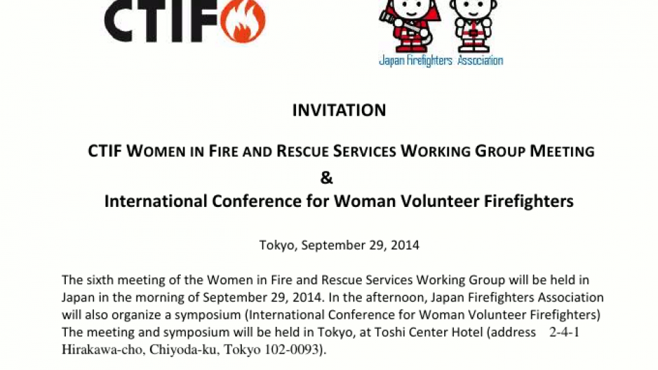 International Conference for Woman Volunteer Firefighters