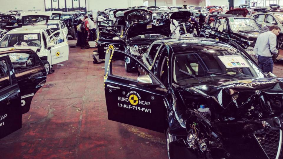 Euro NCAP car wrecks