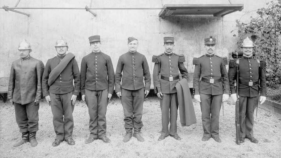 French firefighters in the uniforms they would have worn around 1900, the year when CTIF was formed. Photo: Wikipedia