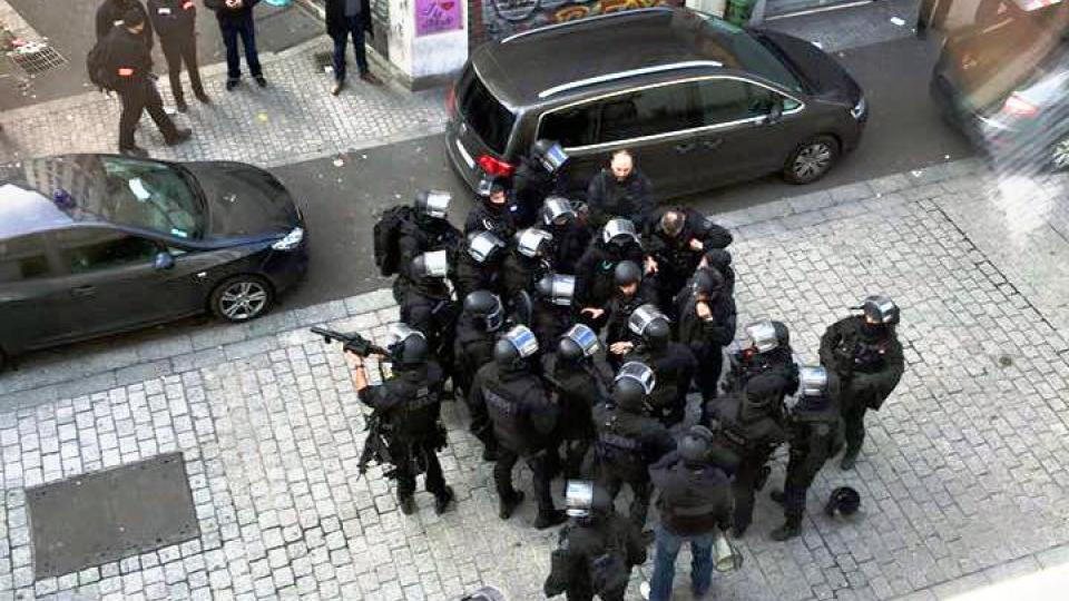French Police raid from a different incident. Photo: Wikpedia