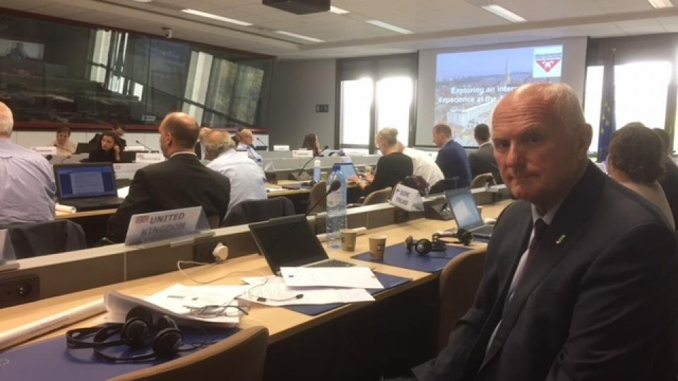 Dennis Davis at the European Commission Directorate General for Internal Market, Industry, Entrepreneurship and Small Medium Sized Enterprises