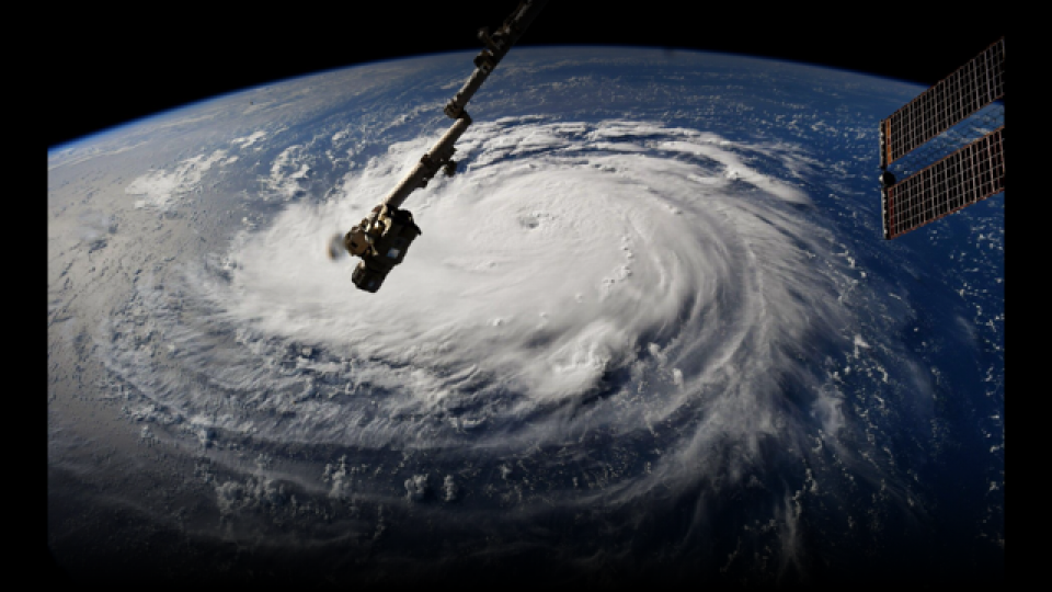 Hurricane Florence photographed from the International Space Station.