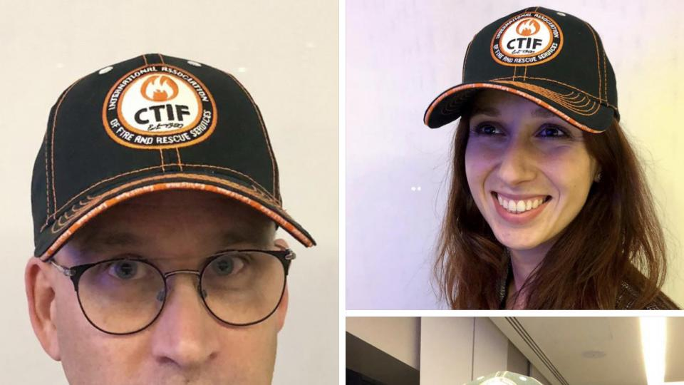 Models wearing the CTIF caps