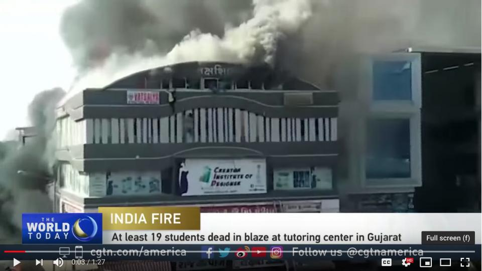 20 young people died in the illegally constructed school in India.