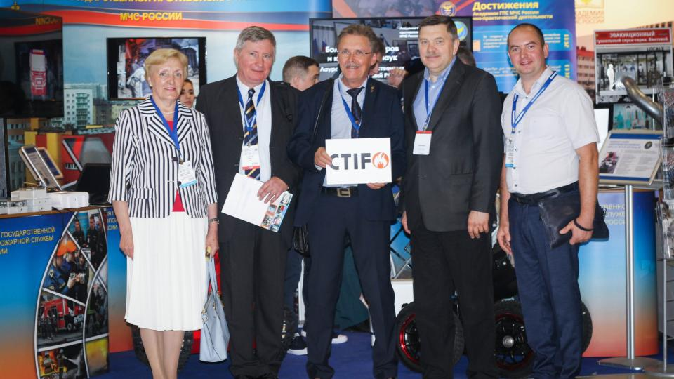 CTIF President Tore Eriksson and CTIF vice president Milan Dubravac with Emercom in Russia.
