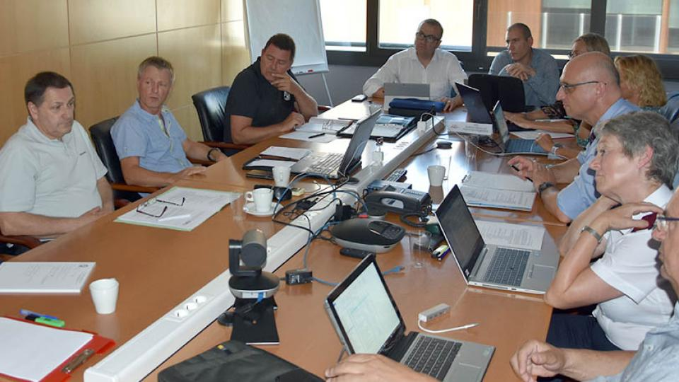 Meeting at the French Firefighter Federation in Paris