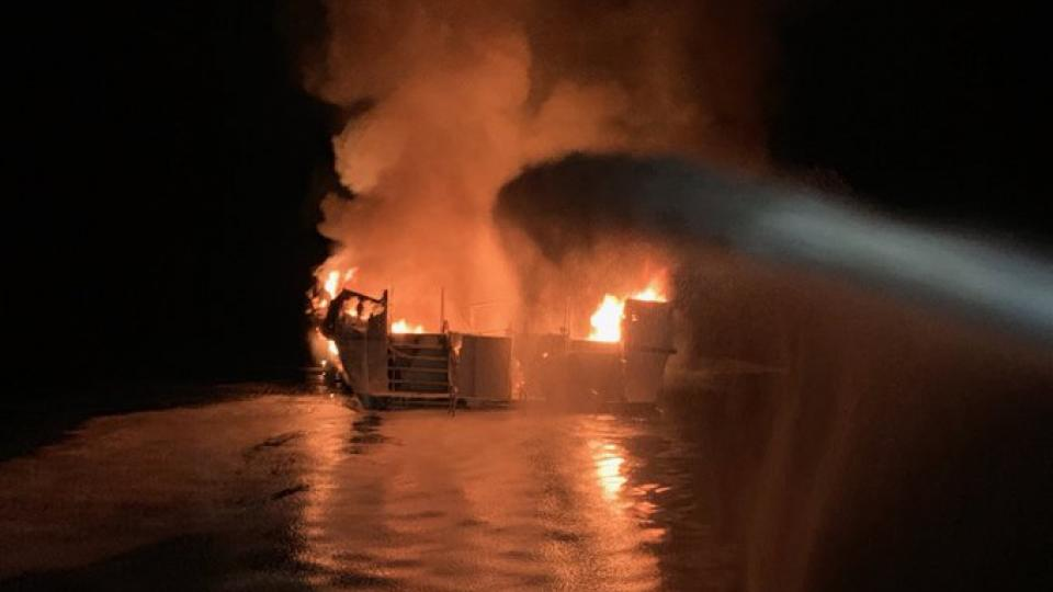 California diving boat fire