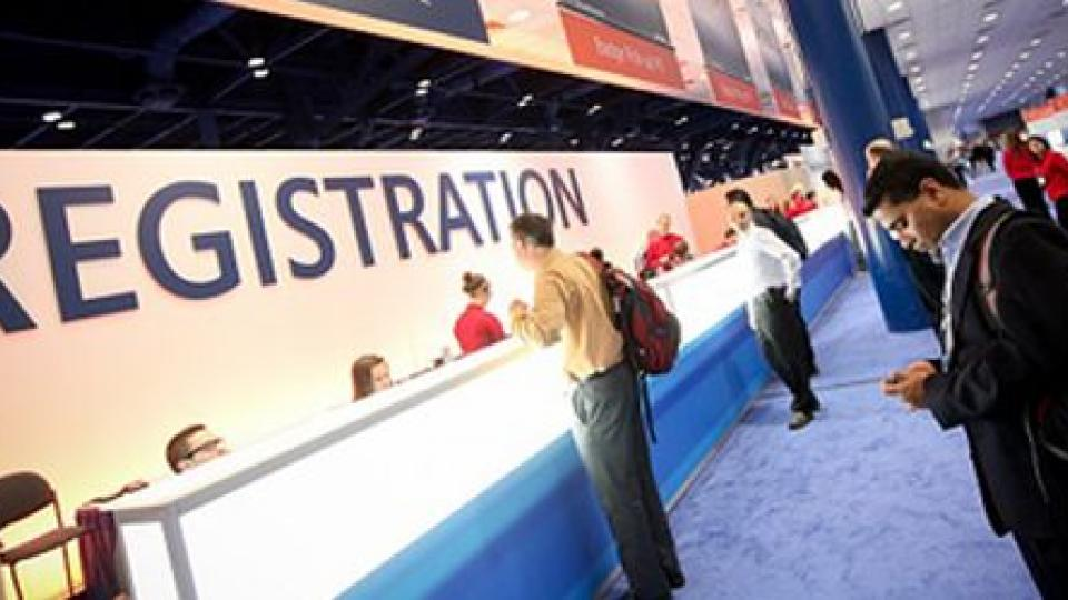Registration desk
