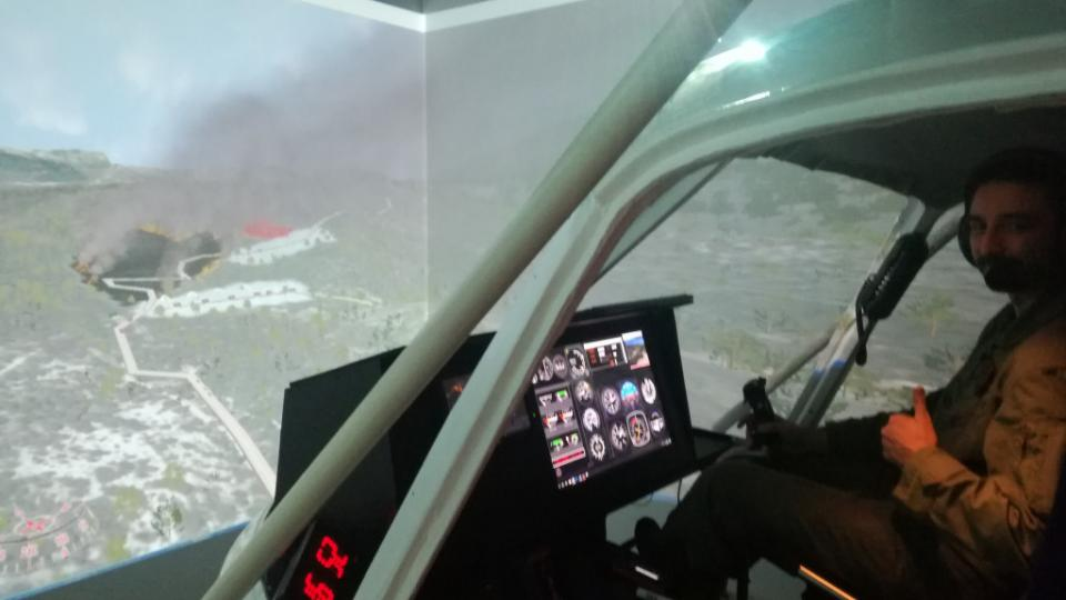 Forest fire simulator
