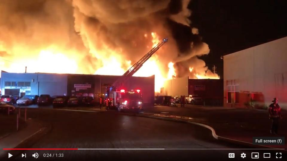 Screenshot from the video by the Sacramento fire department