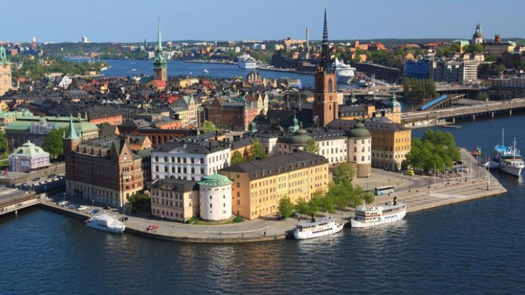 Stockholm´s Oldtown by air. Photo: Wikipedia Commons