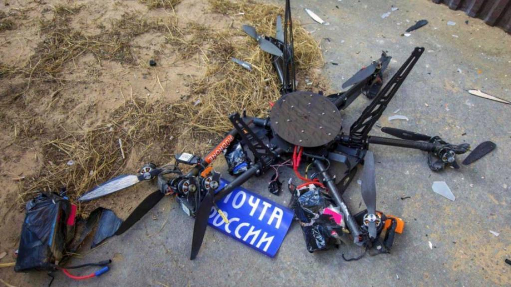 Russian Mail drone crash