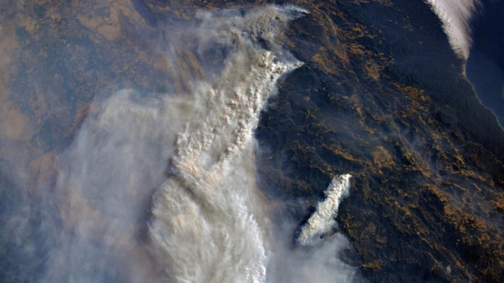 The  fires in California captured by a Russian cosmonaut on August 7, 2018.