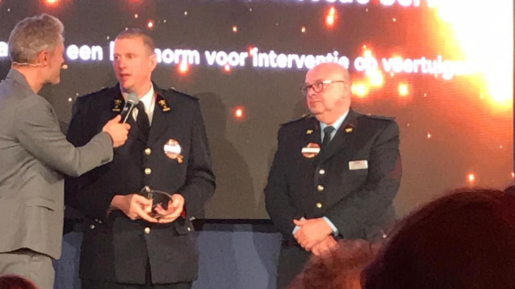 Major Tom van Esbroeck and Kurt Vollmacher received the Fireforum Award for their work on the ISO 17840 firefighter´s vehicle intervention standard on Tuesday Nov 26, 2019.