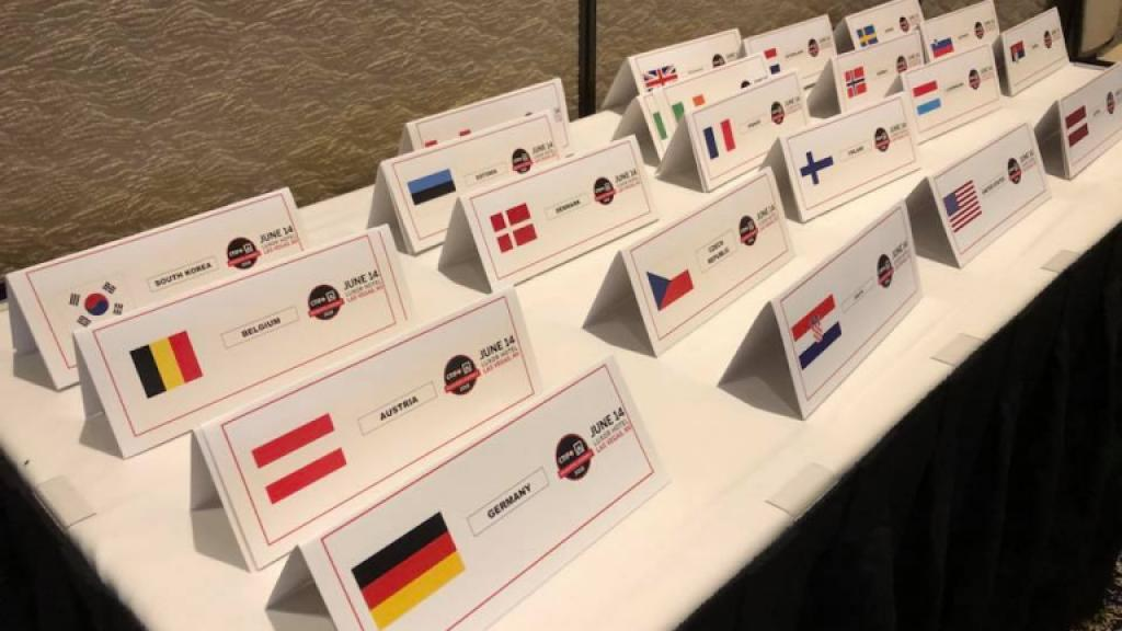 Flags of countries participating at Delegates Assembly in Las Vegas 2018. Photo: Björn Ulfsson / CTIF