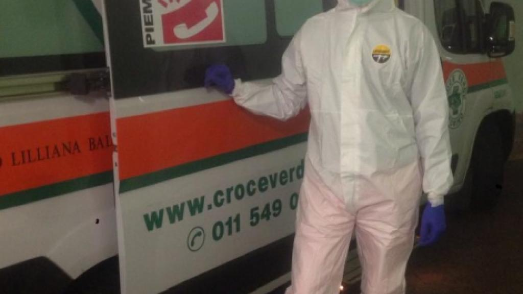 Corona pandemic first responder in Italy, during the worst of the crisis there.