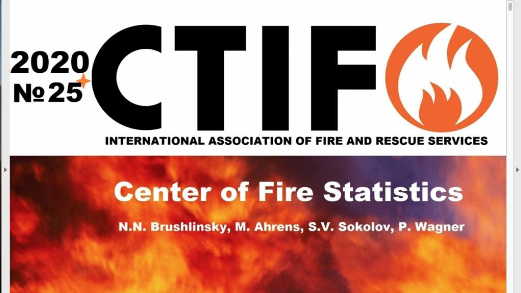 The header for the CTIF Fire Statistics issue no 25, 2020