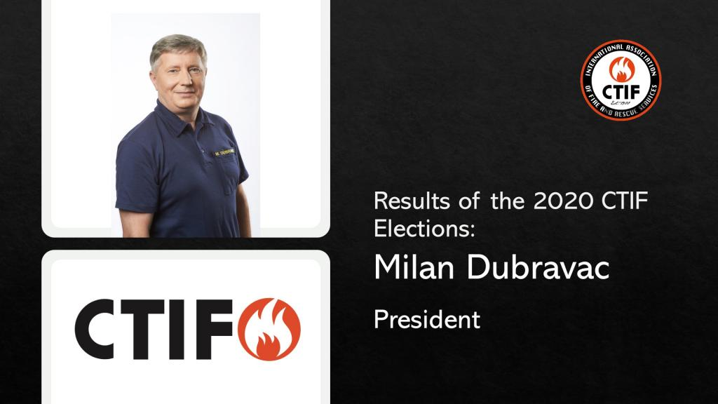Milan Dubravac (Slovenia) was elected president of CTIF on October 21, 2020