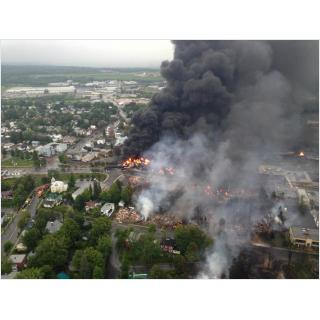 Lac Megantic Burning