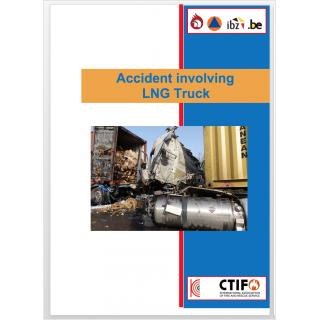 Accident involving LNG truck, full front cover